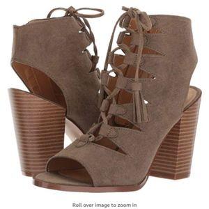Report Bikka Lace Up Block Heel Shoes